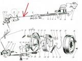 Трос ручного тормоза передний ГАЗ-13